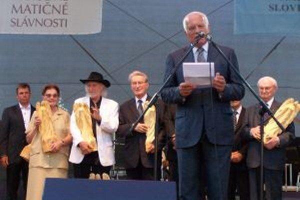 Václav Klaus ďakuje za udelenie ceny Matice slovenskej v kategórii zahraničný politik.