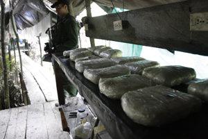Produkcia kokaínu sa v Kolumbii zvyšuje.