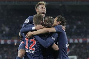 Futbalisti Paríža Saint-Germain.