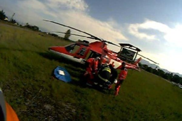 Leteckí záchranári zasahovali neďaleko Turčianskych Teplíc.