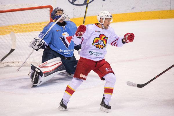 Momentka zo zápasu HC Slovan Bratislava - Jokerit Helsinki.
