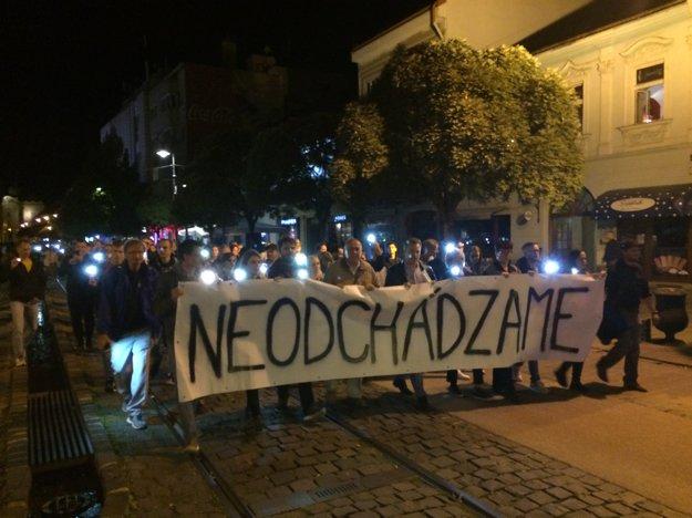 Pochod v Košiciach.