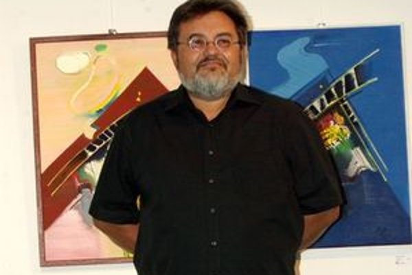 Autora a jeho diela predstavil okrem kurátora aj syn Juraj.