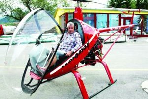 Stanislav OndrušS jeho vrtuľníkom ho vídať na oblohe nad Turcom veľmi často.