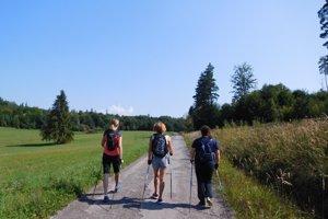 Nordic Walking pri Bikšovej lúke.