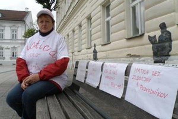 Viera Ďurášová prišla kvôli Národnému pokladu štrajkovať až z Košíc, Martinčania sa nepridali.