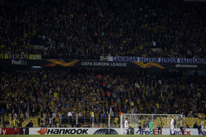 Atmosféra na štadióne v Istanbule.