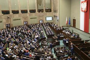 Poslanci dolnej komory poľského parlamentu.