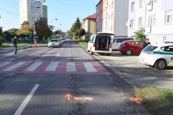 K zrážke došlo na Dopravnej ulici v Leviciach.
