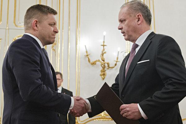 Expremiér Fico a prezident Kiska.