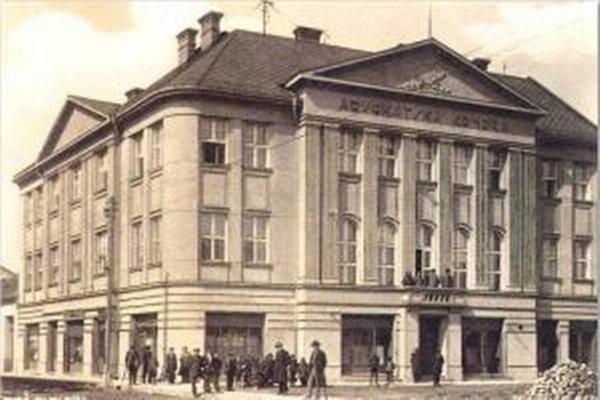 Budova Advokátskej komory zroku 1933.