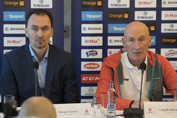Craig Ramsay (vpravo) a Miroslav Šatan.