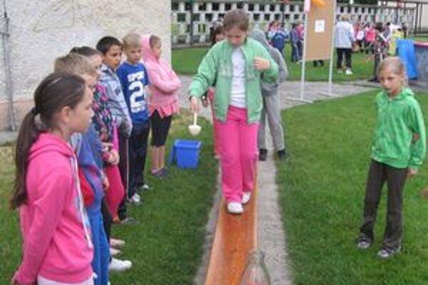 Deti sa mohli zapojiť do mnohých súťaží.