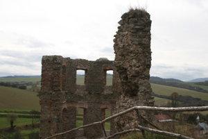 Vrchná časť veže.