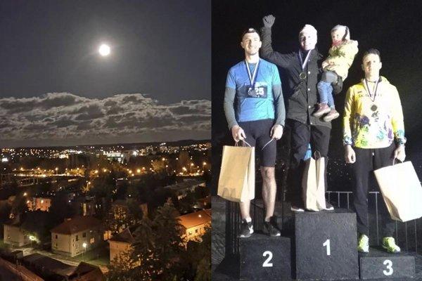 Bežci si užili večernú Nitru za mesačného svitu. Na snímke traja najrýchlejší muži.