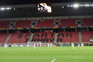 Momentka zo zápasu Spartak Trnava - Dinamo Záhreb.