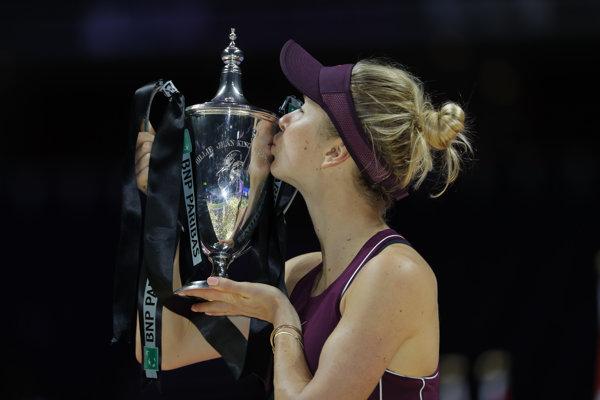 Elina Svitolinová zvíťazila na turnaji MS WTA Masters v Singapure.