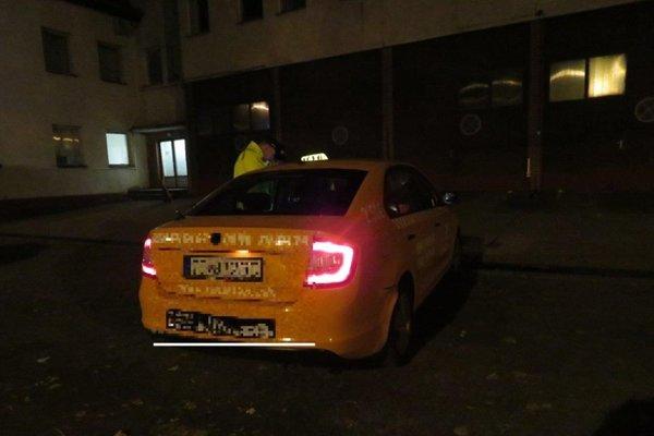 Policajti zistili u taxikárov niekoľko priestupkov.