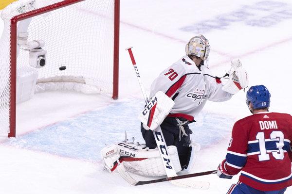 Momentka zo zápasu Montreal - Washington.