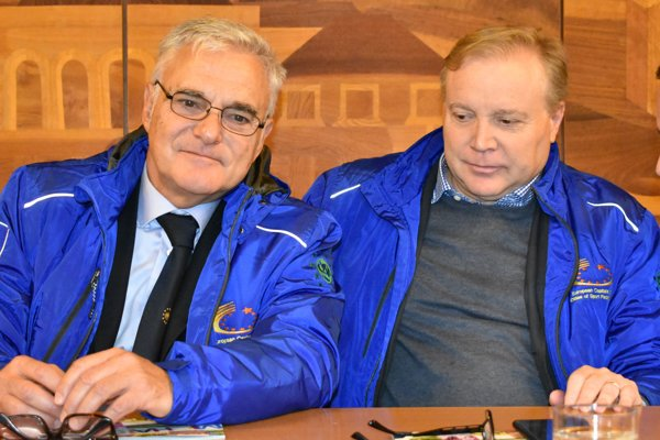 Dvaja zo šiestich komisárov ACES Europe Luigi Ciaralli (vľavo) a Fabrizio Hennig.