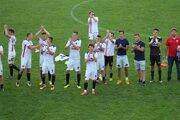 Ďakovačka zvolenských hráčov po vyhratom pohárovom zápase s Interom bratislava - ilustračné
