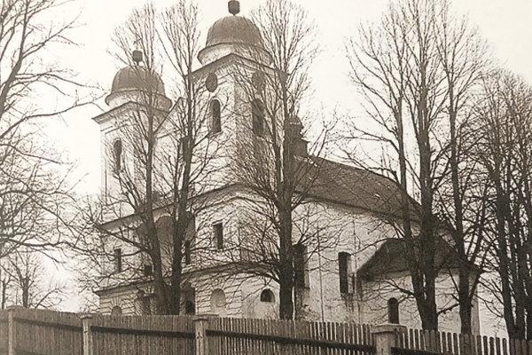 Slanický kostol z dobových fotografií.