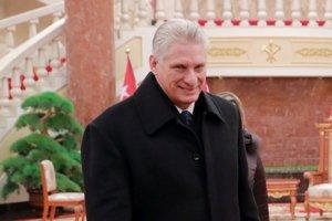 Kubánsky prezident Miguel Diaz-Canel,