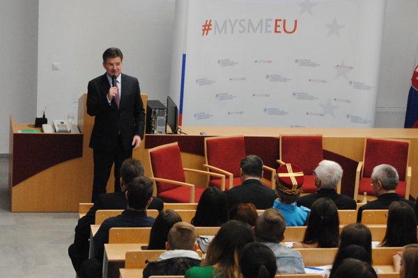 Minister Miroslav Lajčák na Prešovskej univerzite.