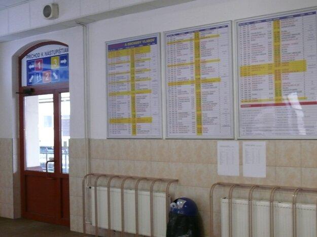 Statické informačné panely vám údaje o meškaní vlaku neprezradia.