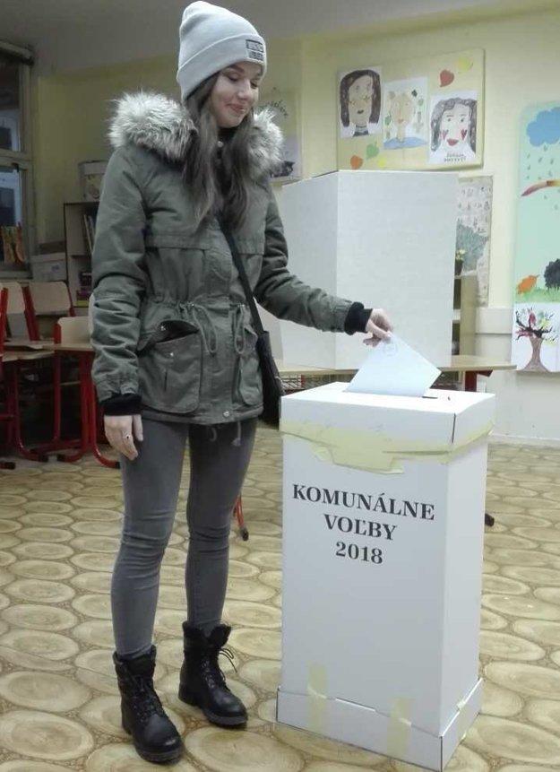 Prvovolička v 17. volebnom okrsku v Lučenci.