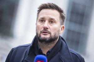 Víťaz na post primátora mesta Bratislava Matúš Vallo počas tlačovej konferencie k výsledkom komunálnych volieb 2018 v Bratislave.