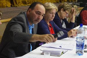 Viktor Wiedermann na jednom zo zastupiteľstiev v Ilave.