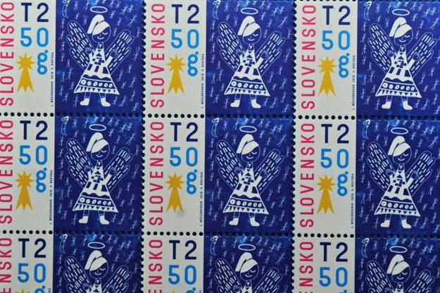 Námetom vianočnej poštovej známky bol obrázok Lindy Mészárosovej z Komárna.