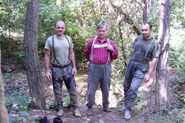 Roman Vrána (vľavo) vteréne.