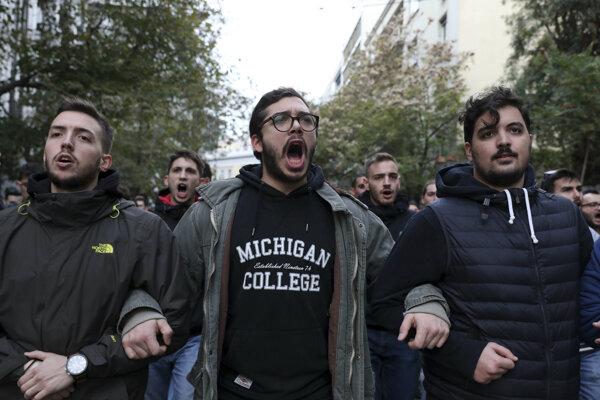 Spomienka na študentské povstanie v Grécku skončila násilnosťami