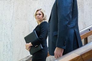 Ministerka vnútra Denisa Saková po utorňajšom rokovaní vlády.