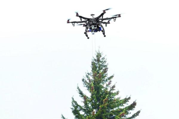 Dron v akcii
