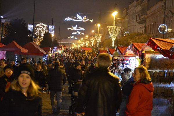 Vianočná atmosféra v Prešove.