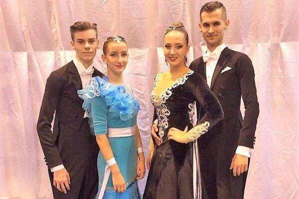Zigo, Rajčanová, Berčíková, Biely - skvelí tanečníci z Aknely.