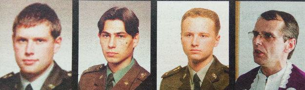 Zľava: Michal Agnet (30), Igor Scigeľ (33), Alexander Gaál (28) aMichal Štang (45) zahynuli pri páde lietadla vroku 2006.
