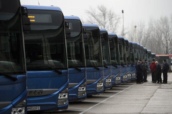 Autobusy v Trenčíne.