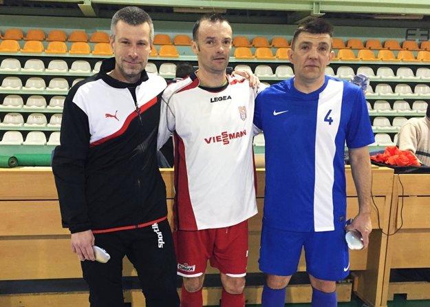 Tri ocenené individuality - zľava Stanislav Dominka, Radovan Paľo a Erik Hrnčár.