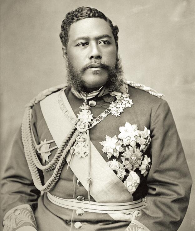 Posledný havajský kráľ, kráľ Kalākaua.