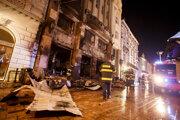 Palác v centre Bratislavy na Hlavnom námestí obhorel 28. novembra 2018 po požiari nepovolených stánkov pred ním.