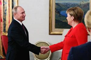 Putin s Merkelovou.