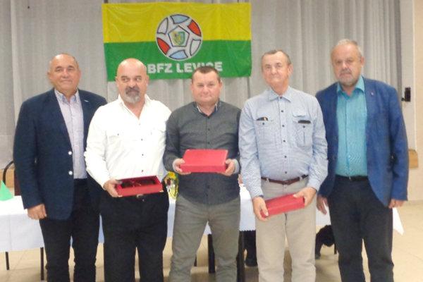 Zľava Stanislav Kysel, Gabriel Szikora, Róbert Gyurjan, Michal Haščák aFrantišek Urban.