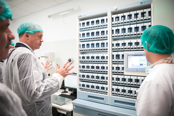 Andrej Kiska v michalovskej nemocnici.