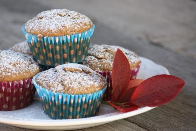 Banánovo-čučoriedkové muffiny