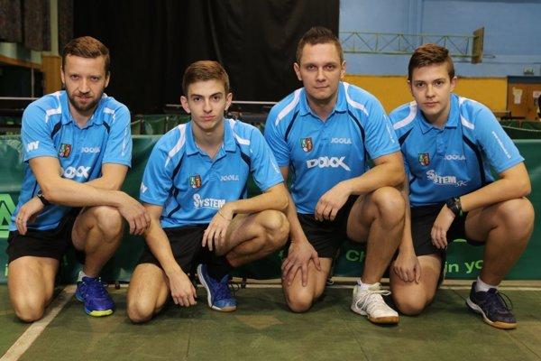 Zľava: Pavel Petráš, Radovan Cyprich, Radoslav Blažek a Samuel Cyprich.
