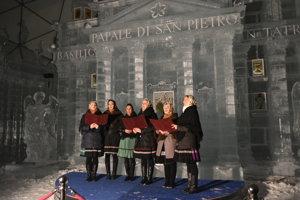 Slovensko spieva koledy 2018 na Hrebienku.